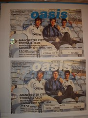 """Oasis, Maine Road tickets 1996 <a style=""""margin-left:10px; font-size:0.8em;"""" href=""""http://www.flickr.com/photos/58583419@N08/5401228130/"""" target=""""_blank"""">@flickr</a>"""