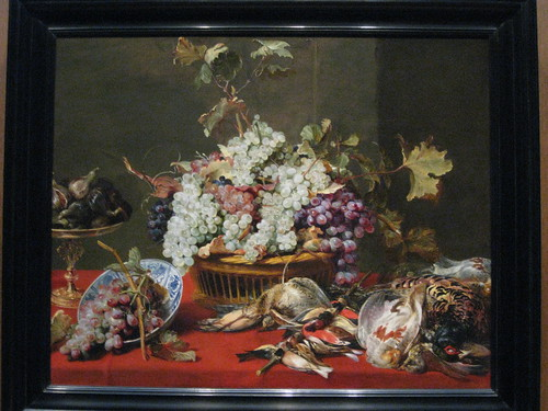 Frans Snyders Still life with Grapes and Game