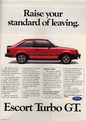 1985 Ford Escort GT Turbo Ad - USA