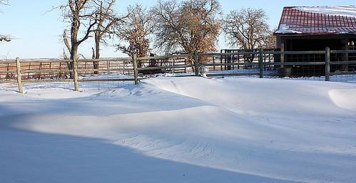 Ok Snow Drifts - 2/1/11