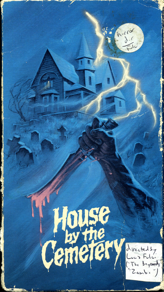 House By The Cemetary (VHS Box Art)