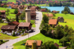 [Free Image] Architecture/Building, City/Town, Road/Rail Tracks, Switzerland, Tilt-Shift Fake, 201102071700