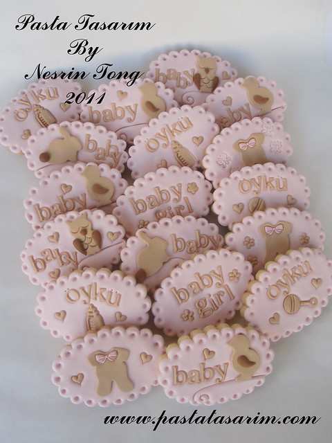 BABY SHOWER COOKIES - IT'S A GIRL BABY OYKU