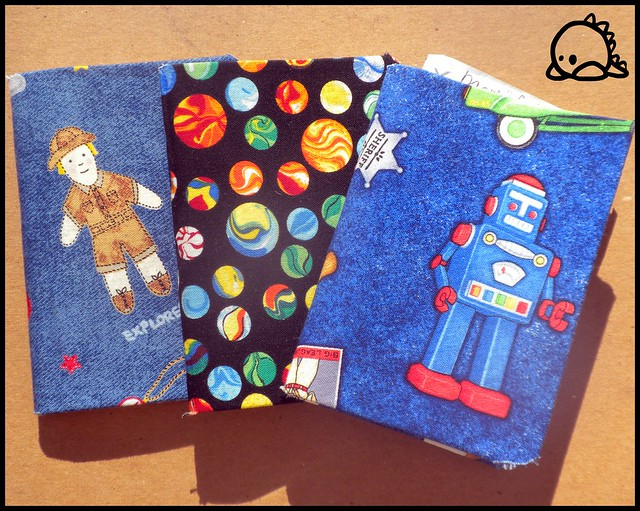 Fabric Covered Mini Books for the boys