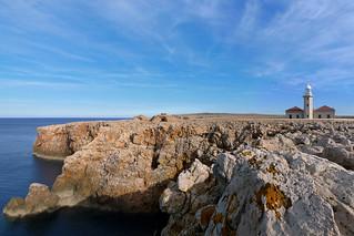 The barefaced cliffs of Punta Nati - Menorca
