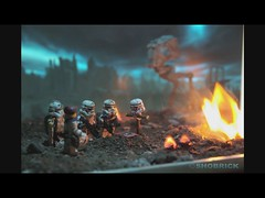 Stormtrooper RIP video (Shobrick) Tags: city grave effects fire star video sad cross lego live flag rip apocalypse tiny stormtrooper wars minifigs hommage custom clone sorrow making destroyed atat tactical brickarms shobrick