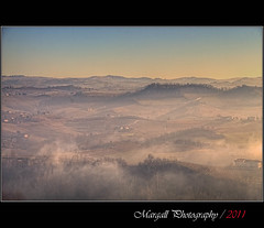 Shooting the paradise - HDR - Novello - Cuneo - Italy (Margall photography) Tags: italy mist fog canon landscape photography italia sigma hills piemonte marco nebbia cuneo hdr colline langhe 30d foschia galletto margall novello