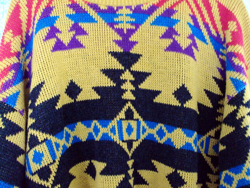 Navajo-ish Pattern Sweater (detail)