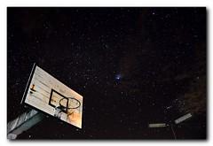 Shooting Stars [Explored] (Evo55) Tags: night stars nikon basketballcourt 346 d90 basketballnets overheadlamp astrometrydotnet:status=solved starrynightsky basketballboard 30secexposuretime astrometrydotnet:version=14400 astrometrydotnet:id=alpha20110291009437