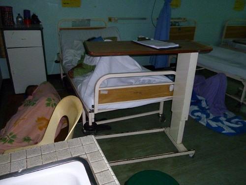 2c. Carers sleeping on the floor