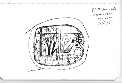 Rearview mirror sketch