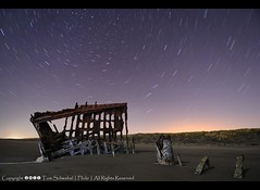 Lost in Time - 15 minutes over the Peter Iredale (pdxsafariguy) Tags: sky beach night oregon stars star coast sand rust trails shipwreck wreck fortstevens peteriredale tomschwabel iredale