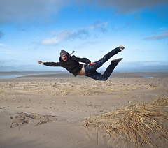 Zero gravity. (Ian McWilliams.) Tags: book flying dangerous funny published air flight superman explore northumberland stupid brotherinlaw bamburgh zerogravity airbourne hillarious canon550d robpentland seachangene