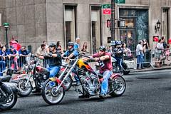 Labor Day Parade (Mr Yankee) Tags: nyc usa newyork apple canon big downtown manhattan motorcycle gotham hdr labordayparade motorbick