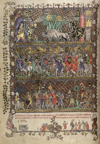 003-folio 21 verso-The Romance of Alexander - MS. Bodl. 264 © Bodleian Library-University of Oxford 1999