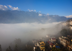 View from my room in Sapa for 2 minutes - Vietnam (Eric Lafforgue) Tags: fog clouds asia view vietnam viet asie nuages sapa vietname  wietnam    vietnam7227