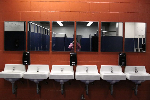 stadium bathroom