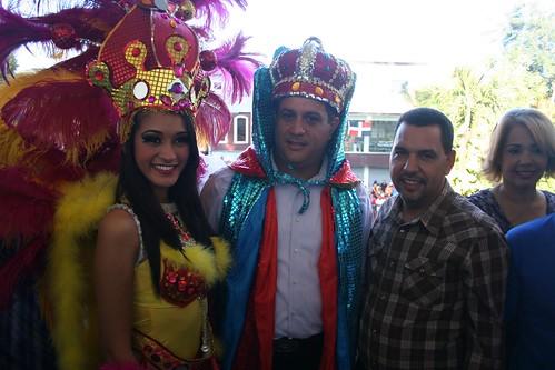 La Reina y el Rey del Carnaval de Bonao