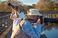Shooting Ducks (StreetShooter45) Tags: candid streetphotos wakodahatchee graphicgreg 45mmgnnikkor birdshooters instruction20 spnp20