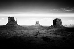Monument Valley (morriseit) Tags: arizona blackandwhite clouds infrared navajo monumentvalley reservation johnwayne buttes