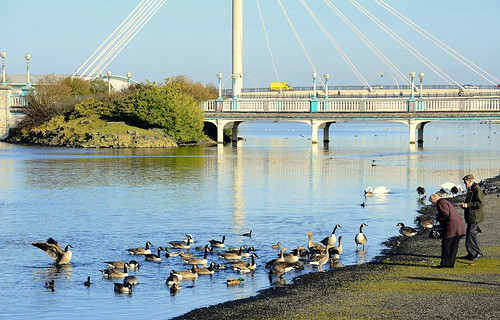 Pensioners Flock To The Marine Lake Southport