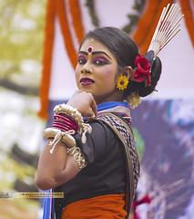 POrtrait of a Sambalpuri dancer
