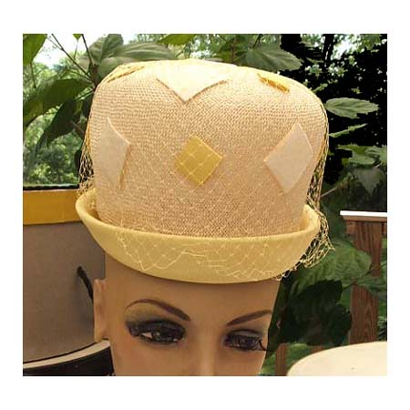 Funky Bubble Top Straw Hat