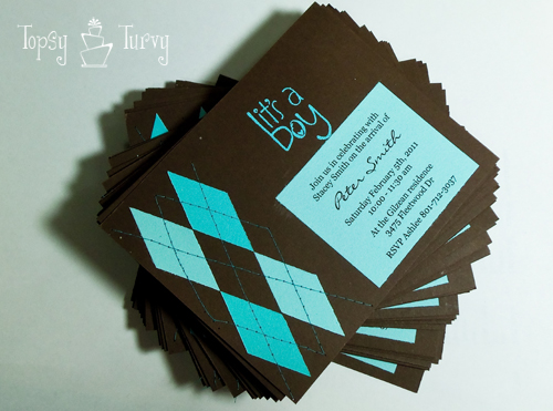 argyle baby shower invitation tutorial  ashlee marie, Baby shower invitation