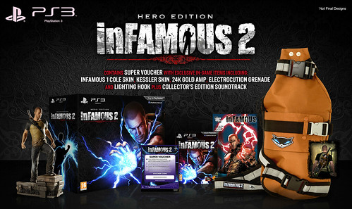 inFAMOUS 2: Packfront Unveil, Special Edition & Hero Edition!