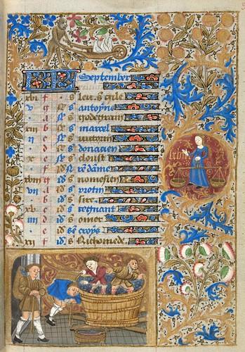 012- Ms. lat. 33- ©Genève, Bibliothèque de Genève- livre d'Heures à l'usage de Paris-f 9r
