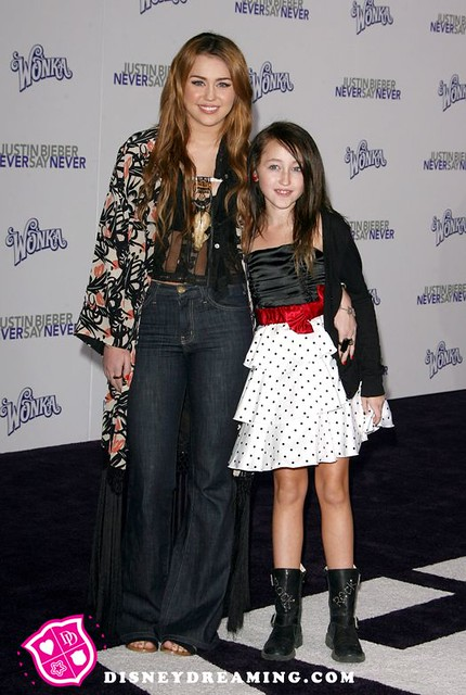 Miley Cyrus Noah Cyrus Never Say Never Movie Premiere
