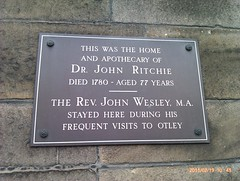 Photo of John Wesley and John Ritchie bronze plaque