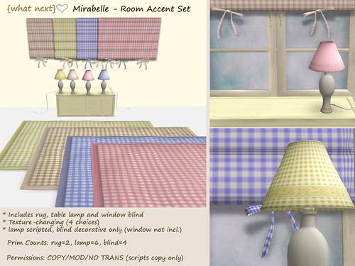 {what next} Mirabelle Room Accent Set
