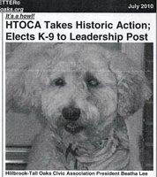 Beatha Lee, in Hillbrook-Tall Oaks Civic Assn newsletter