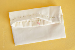Little Bag Tutorial: Top Seam (Simply Vintagegirl) Tags: color colour colors yellow bag spring colorful bright embroidery sewing crafts craft sew fresh fabric pouch howto instructions material how cheerful tutorial gather muslin drawstring embroider