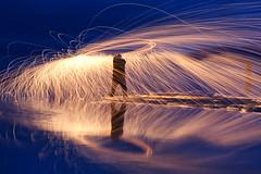 DSC07735 (Ludwigsnapshots) Tags: lightpainting water fire utah sony saltlake saltair a700