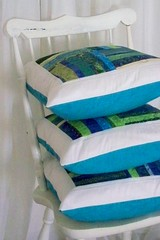 watercolors custom order (PioneerValleyGirl) Tags: blue white green modern watercolor blog chair colorful aqua handmade turquoise contemporary sewing stripes massachusetts craft monochromatic pillow fabric cotton quilted etsy patchwork scrap commission cushion throw sham productphotography pioneervalley cushioncover bibliophile1 pioneervalleygirl