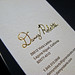 Foil & Letterpress Business Card - Danny Roberts