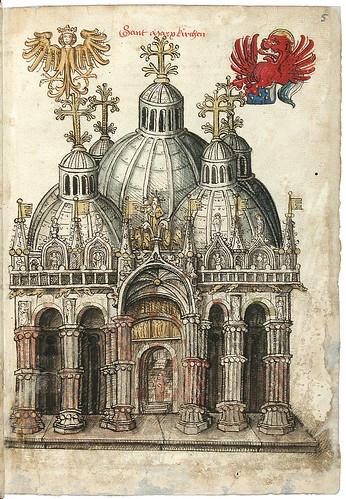 006-San Marcos de Venecia-Konrad von Grünenberg- Beschreibung der Reise von Konstanz nach Jerusalem 1487- © 2010 Badische Landesbibliothek