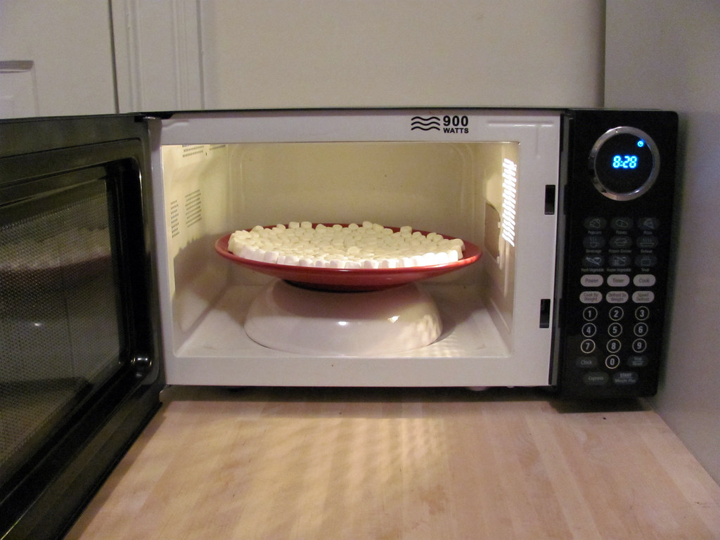 Marshmallow Microwave Experiment 2