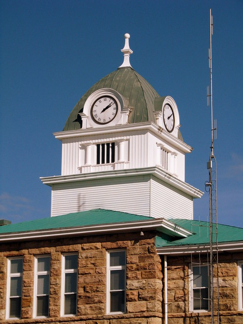 Fentress County Courthouse clock tower