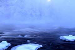 Kapeenkoski Rapids_2011_02_19_0069 (5) (FarmerJohnn) Tags: winter cold fog sunrise canon suomi finland haze stream frost rapids 7d february talvi vesi 30d glacial laukaa usva sumu koski auringonnousu helmikuu kylmä virta pakkanen kuura äänekoski kapeenkoski 2410540lisusm hyinen 7020040lissum