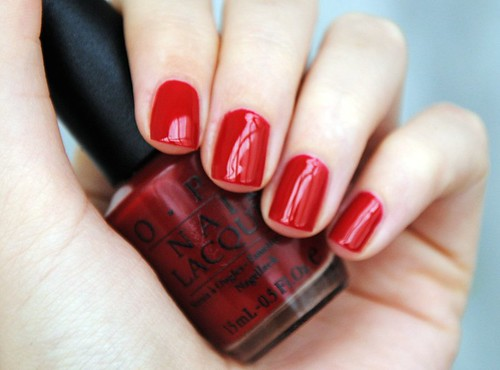 OPI Mat-Adore Red