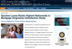 Quicken Loans Customer Satisfaction J.D. Power and Associates Microsite