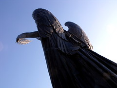 angel of peace (dmixo6) Tags: blue winter sky energy angle line shape dugg dmixo6