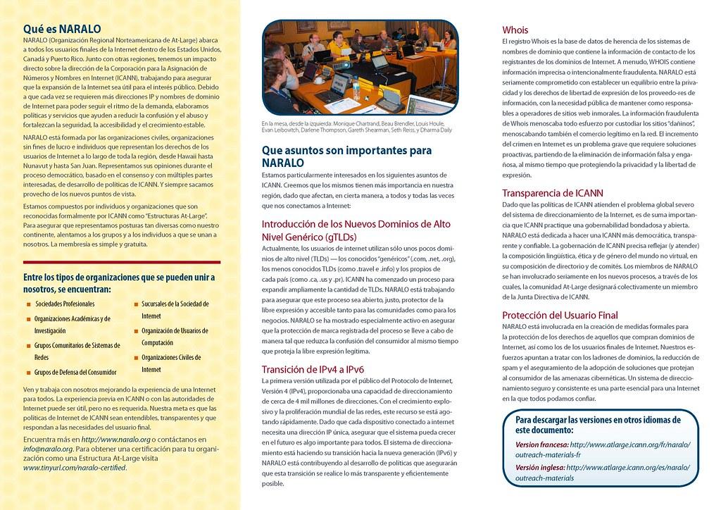 Tri-fold NARALO Brochure 1