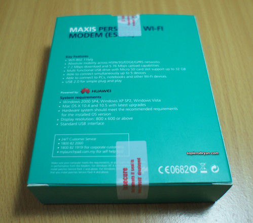Maxis WiFi Modem (E5832) Features