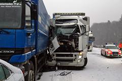 Karambolage im Schnee A3 Niederseelbach 24.02.11