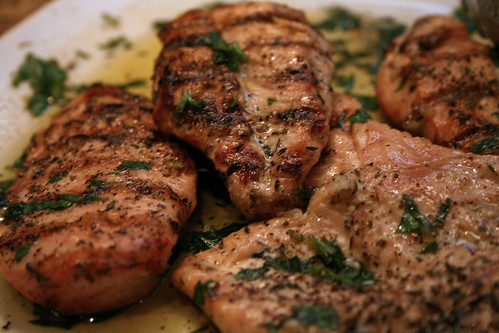 grilled chicken escobeche