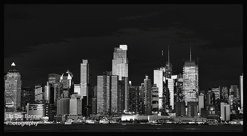 new york skyline at night black and. New York City Night Skyline